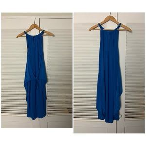 S/M royal blue hi low goddess dress